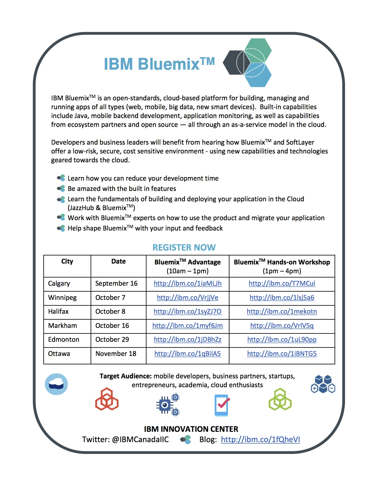 Bluemix Days Invitation - CANADA_Aug